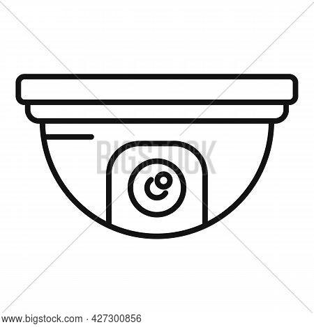 Indoor Security Camera Icon Outline Vector. Movie Camcorder. Security Camera