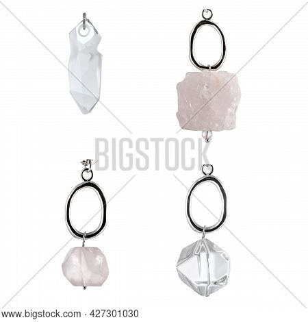 A Set Of Natural Precious And Semi-precious Large Stones For Pendants, Jewelry And Bijouterie. Templ