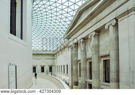 London, Uk - April 2018: Hall Of British Museum