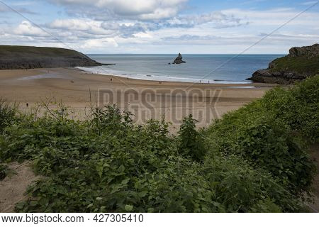 Broad Haven South Beach In Pembrokeshire On The Welsh Coast