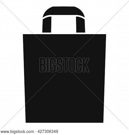 Canvas Eco Bag Icon Simple Vector. Fabric Reusable. Cotton Market Bag