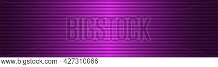 Abstract Wide Striped Lined Horizontal Glowing Background. Scan Screen. Technological Pink Futuristi