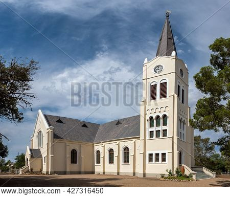Steytlerville, South Africa - April 21, 2021: The Dutch Reformed Church In Steytlerville In The East