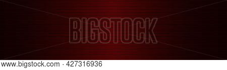 Abstract Wide Striped Lined Horizontal Glowing Background. Scan Dark Red Screen. Technological Futur