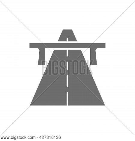 Vector Autobahn, Highway, Road, Way Grey Icon.