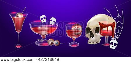 Vector Illustration Happy Halloween Set.can Be Used For Poster, Banner, Greetings Card, Sticker, Fly