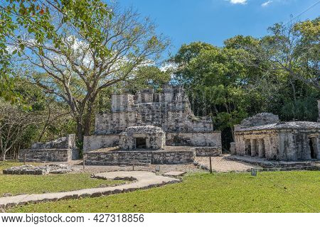 Ancient Maya Building At Muyil Archaeological Site, Quintana Roo, Mexico