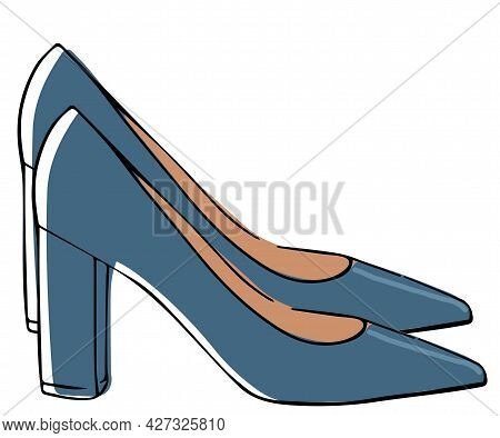 Classic Shoe On Heel, Women Fashionable Footwear