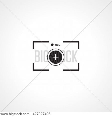 Video Camera Focusing Icon. Video Camera Focusing Isolated Simple Vector Icon.