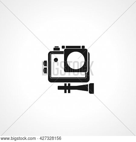 Action Camera Icon. Action Camera Isolated Simple Vector Icon.