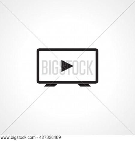 Smart Tv Play Icon. Smart Tv Play Simple Vector Icon.