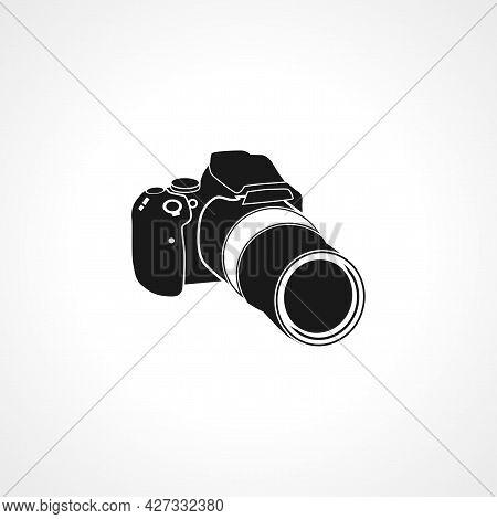 Professional Camera Icon. Professional Camera Isolated Simple Vector Icon.