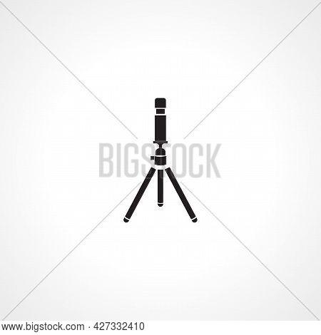 Camera Tripod Icon. Camera Tripod Isolated Simple Vector Icon.