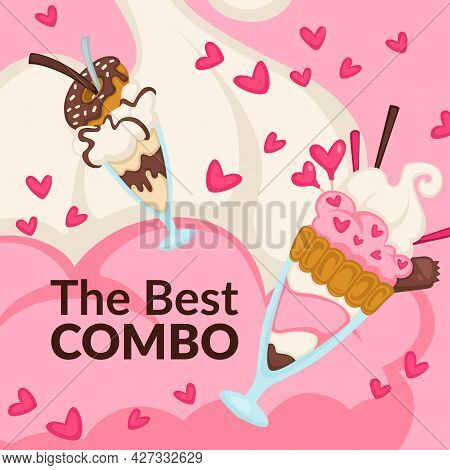 Best Combo Ice Cream And Donut, Promo Banners
