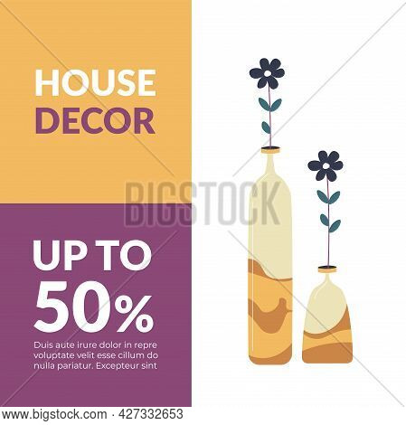 House Decor Up To 50 Percent Off Promo Banner