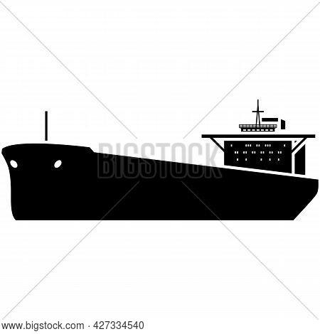 Oil Ship Tanker Vector Marine Cargo Vessel Silhouette