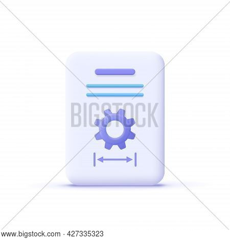 Project Task Management And Effective Time Planning Tools. Project Detail Icon. 3d Vector Illustrati