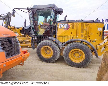 Kiyv, Ukraine - August 30, 2020: Caterpillar D9R By Cat Outdoor At Construction Site