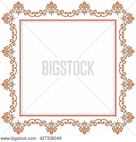 Vintage Set Of Vector Horizontal, Square And Round Elements. Different Elements For Backgrounds, Fra