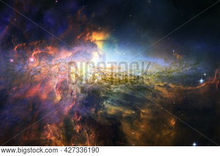 Cluster Of Stars. Nebula. Elements Of This Image Furnished By Nasa
