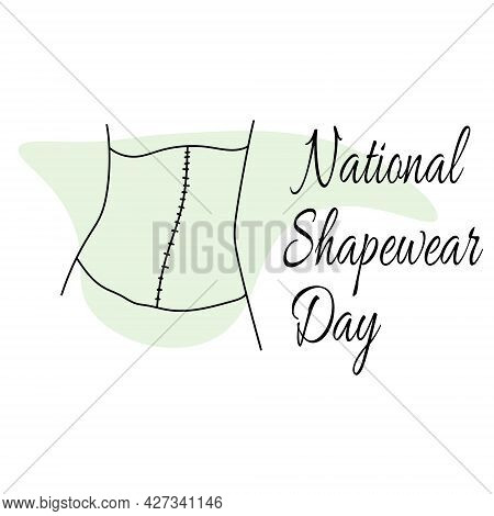 National Shapewear Day, Garment Silhouette For Advertising Poster Vector Illustration