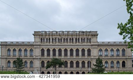 House Of Culture Of Sailors In Kaliningrad (former Konigsberg Stock Exchange), Side View, The Buildi