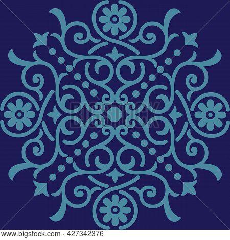 Santorini Medallion Placement Design Element For T-shirts