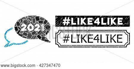 Mosaic 2021 Webinar Composed Of Rectangle Elements, And Black Grunge Hashtag Like4like Rectangle Sea