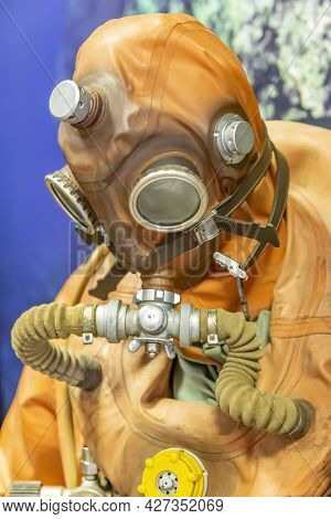 Retro Suit Of A Military Diver Of The Last Century