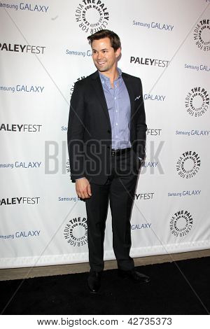 LOS ANGELES - FEB 27:  Andrew Rannells arrives at the PaleyFest Icon Award 2013 at the Paley Center For Media on February 27, 2013 in Beverly Hills, CA