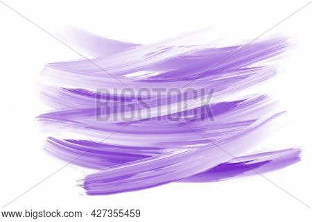 Minimal Purple Label Brush Stroke Backgrounds. Paint Or Ink Smudges Illustration For Tags And Stamps