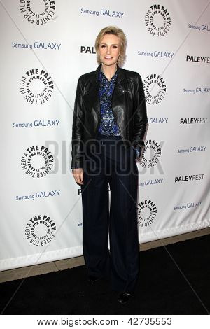LOS ANGELES - FEB 27:  Jane Lynch arrives at the PaleyFest Icon Award 2013 at the Paley Center For Media on February 27, 2013 in Beverly Hills, CA