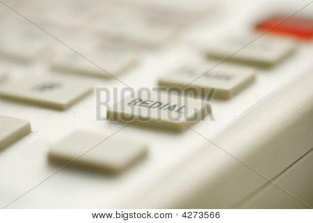 Closeup Redial Button