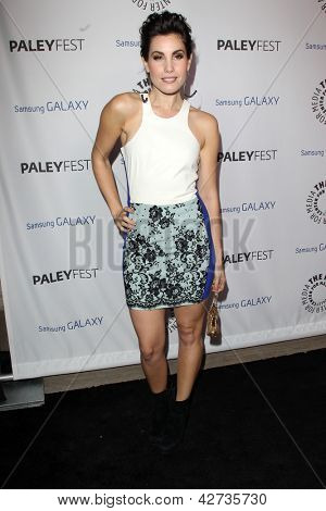 LOS ANGELES - FEB 27:  Carly Pope arrives at the PaleyFest Icon Award 2013 at the Paley Center For Media on February 27, 2013 in Beverly Hills, CA