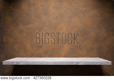 Abstract painted background texture and shelf at wall. Book shelf at  wall background surface