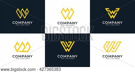 Creative Modern Letter W Element Typography Font Logo Design. Logo Can Be Used For Icon, Brand, Iden