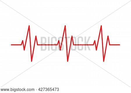 Heartbeat Pulse Line Vector Health Medical Concept For Graphic Design, Logo, Web Site, Social Media,