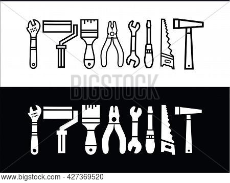 Working Tools Handyman Icon Collection. Repair And Construction Tools Collection Vector Stock Illust