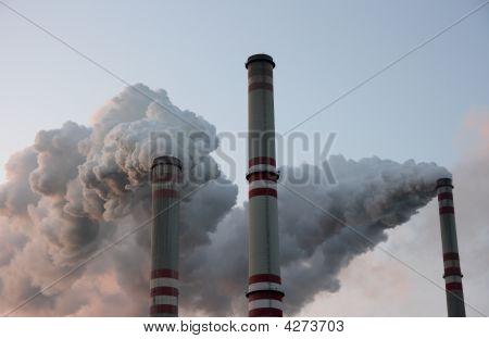 Coal Power Plant Chimneys