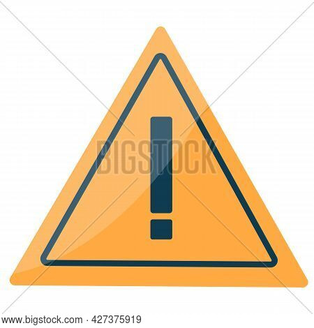 Danger Warning Sign With Exclamation Mark. Danger Or Stop. Vector Illustration. Isolated On White Ba