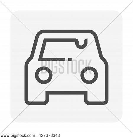 Car Wash And Service Vector Icon Set Design, 48X48 Pixel Perfect And Editable Stroke.