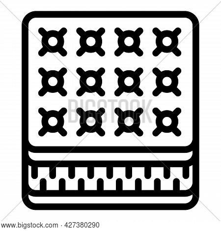 Soft Mattress Icon. Outline Soft Mattress Vector Icon For Web Design Isolated On White Background