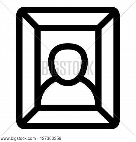 Wall Picture Portrait Icon. Outline Wall Picture Portrait Vector Icon For Web Design Isolated On Whi
