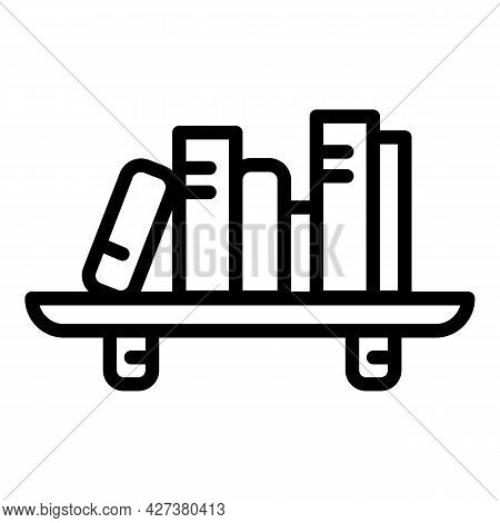 Room Book Shelf Icon. Outline Room Book Shelf Vector Icon For Web Design Isolated On White Backgroun