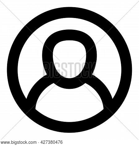 Live Avatar Icon. Outline Live Avatar Vector Icon For Web Design Isolated On White Background