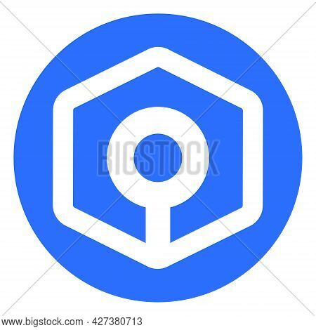 Ankr Token Symbol Of The Defi Project Cryptocurrency Logo In Circle, Decentralized Finance Coin Icon