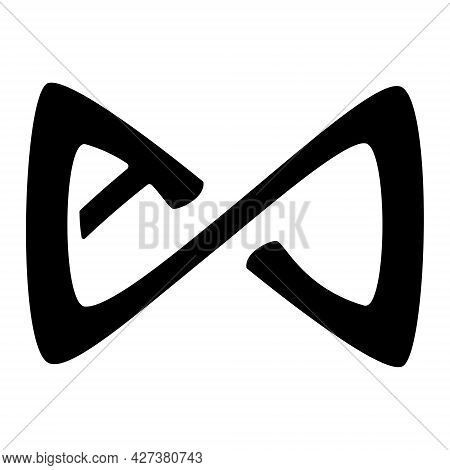 Axie Infinity Axs Token Symbol Cryptocurrency Logo, Coin Icon Isolated On White Background. Monochro