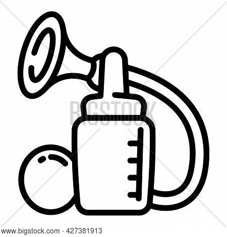 Breast Milk Pump Icon. Outline Breast Milk Pump Vector Icon For Web Design Isolated On White Backgro