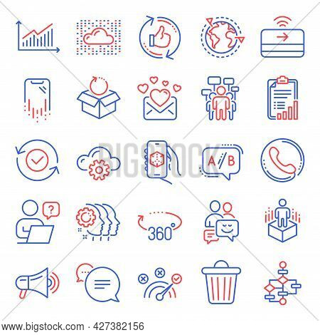 Technology Icons Set. Included Icon As 360 Degrees, Refresh Like, Smartphone Recovery Signs. Voting