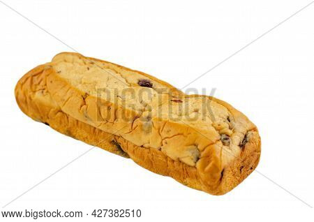Raisin Bread Isolated On A White Background.